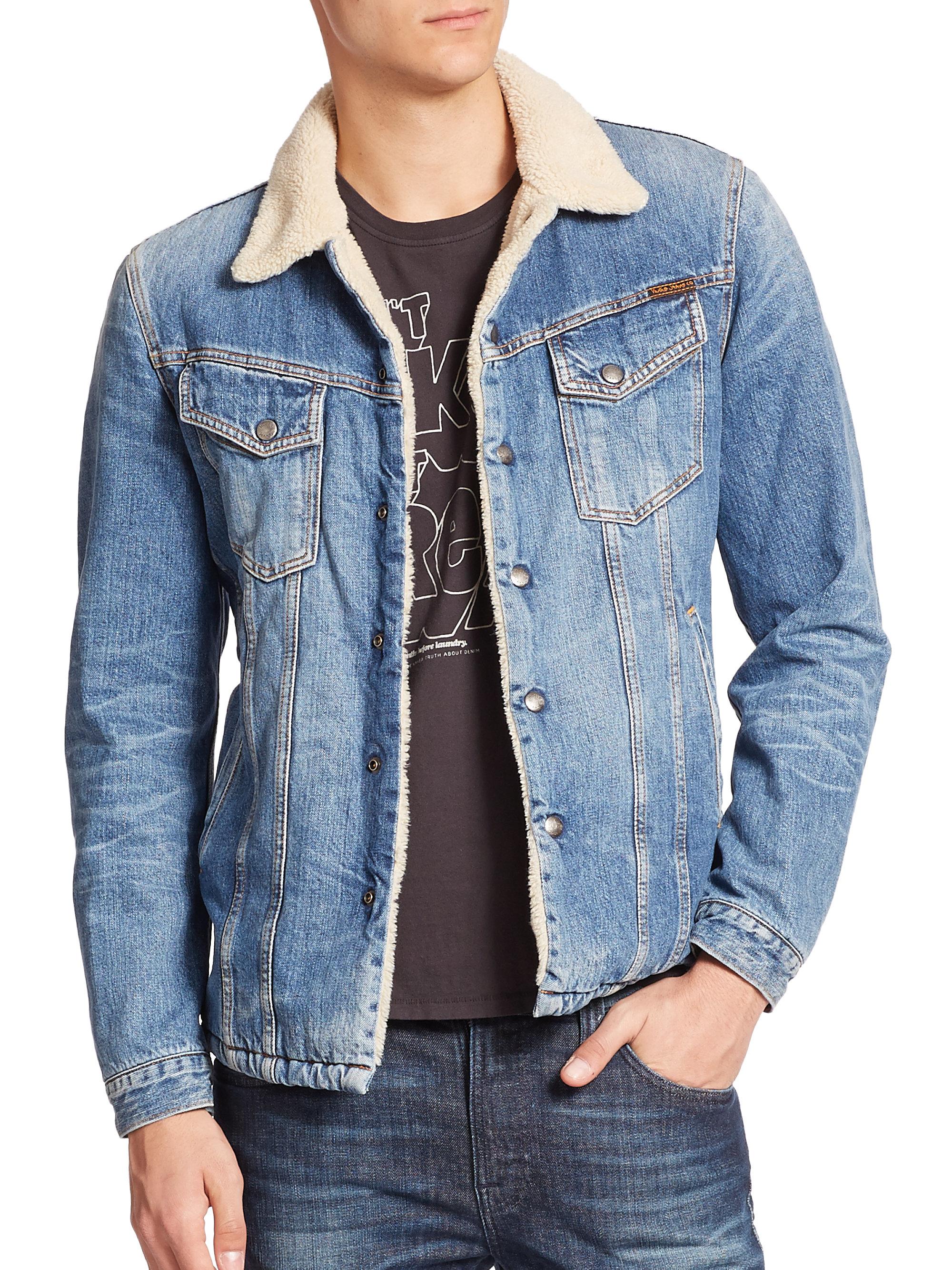 24f9a82ea6 Nudie Jeans Lenny Denim Jacket in Blue for Men - Lyst