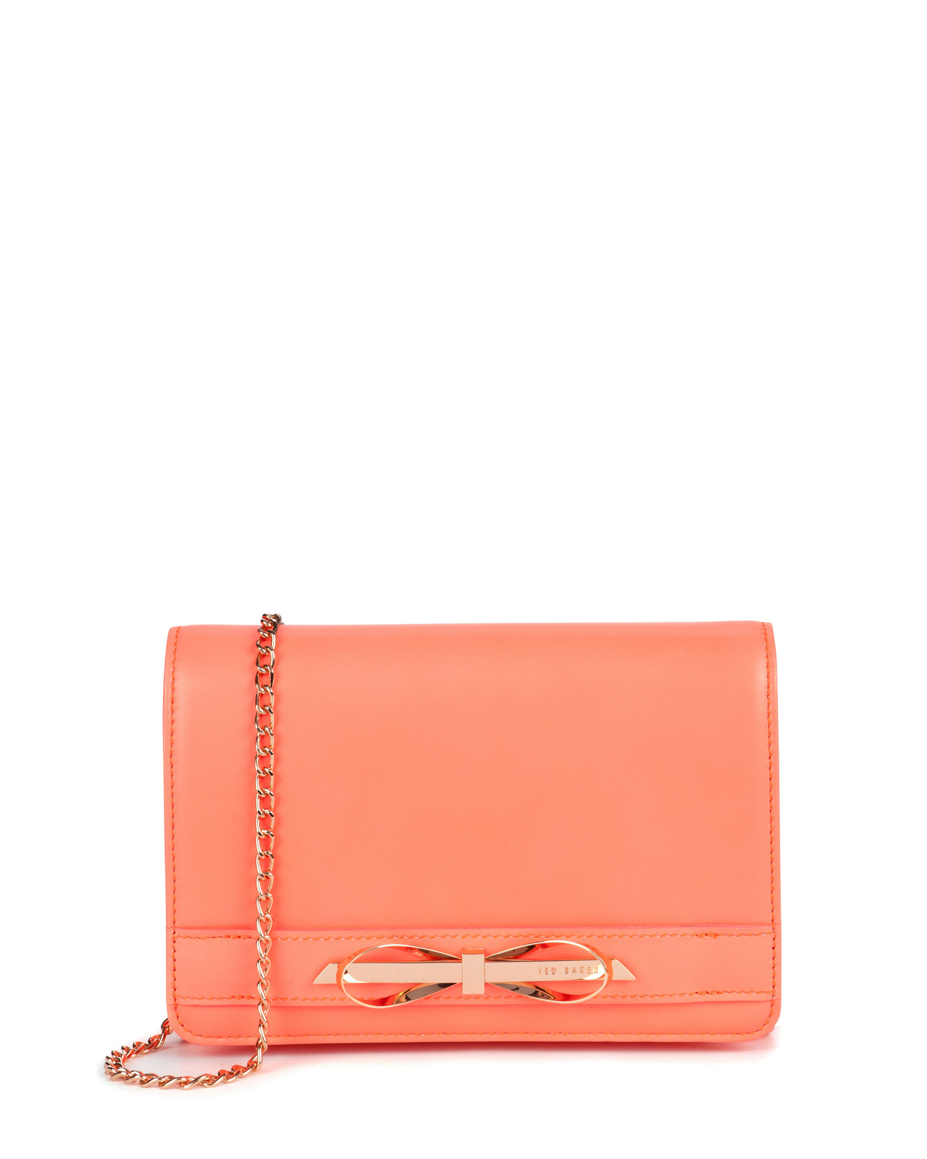 e95162d2b Ted Baker Phoebee Patent Leather Cross Body Bag in Orange - Lyst