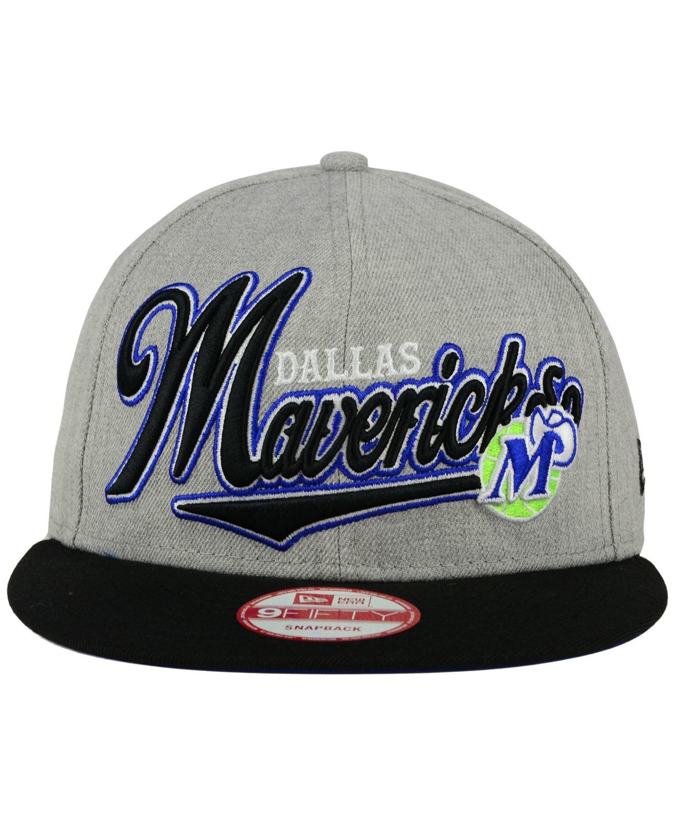 f30833112e344 Lyst - Ktz Dallas Mavericks Big Heather 9fifty Snapback Cap in Gray ...