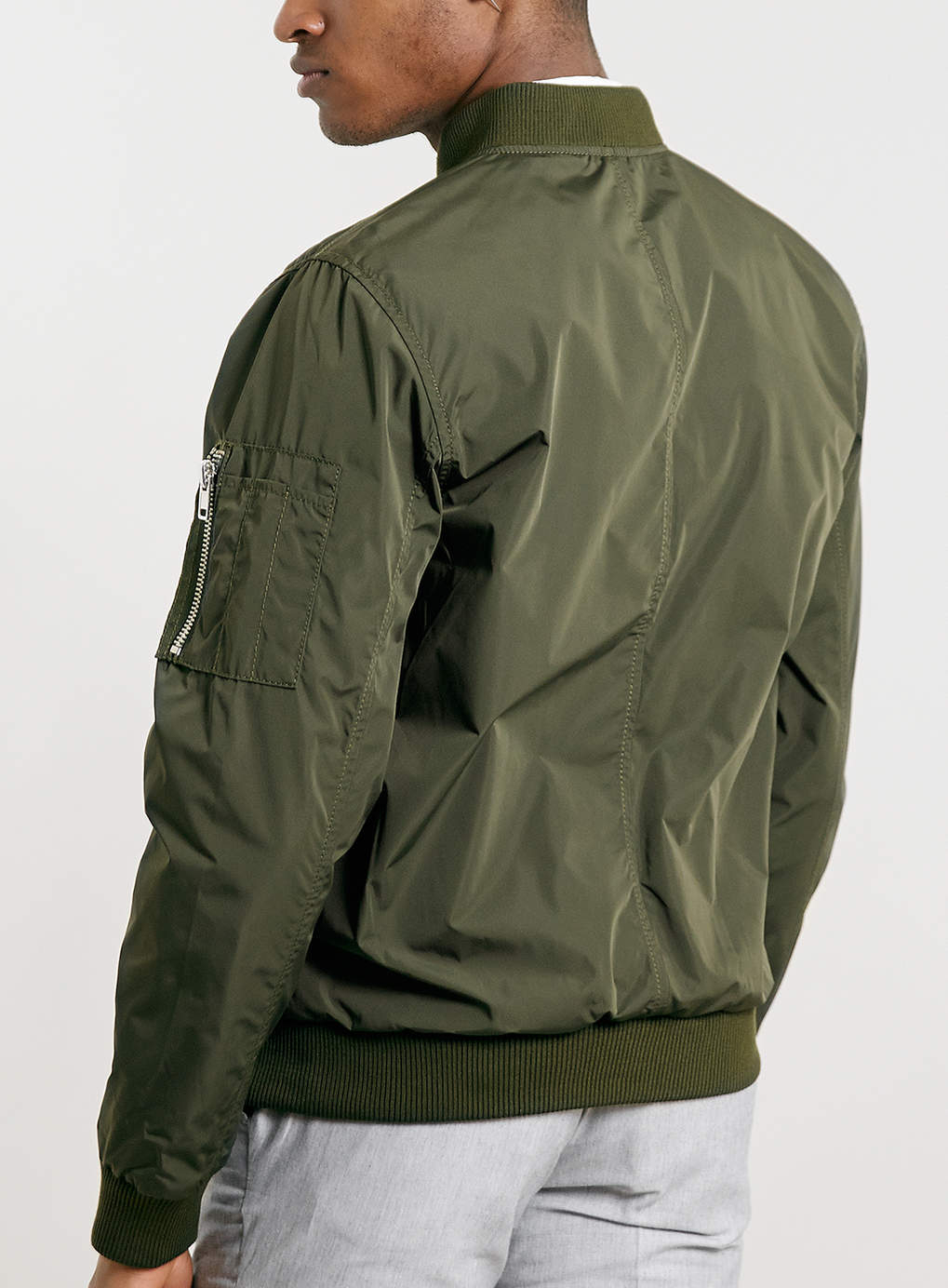 Lyst Topman Khaki Lightweight Ma1 Bomber Jacket In Green