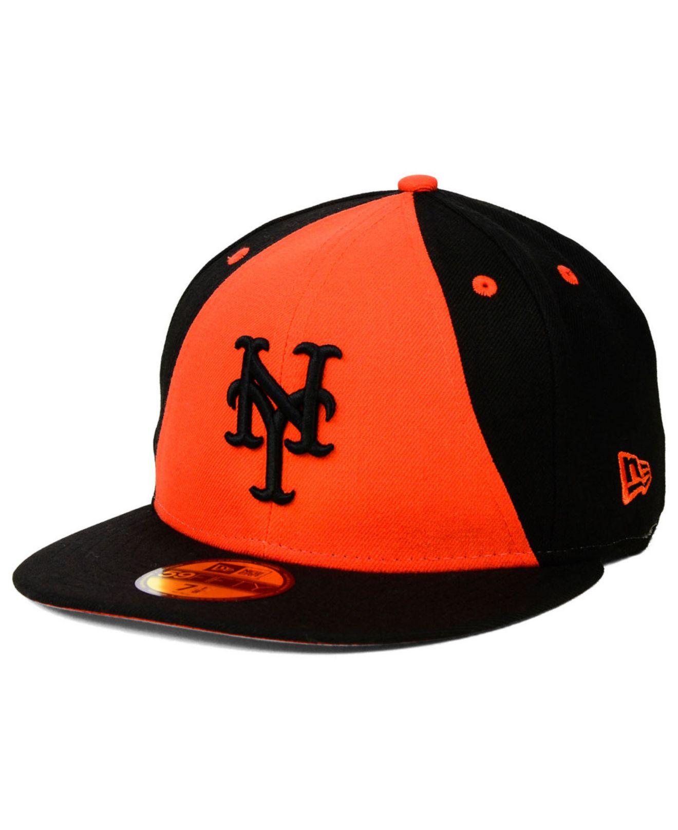 best service 6b5c6 7e517 KTZ New York Mets Split Time 59Fifty Cap in Black for Men - Lyst