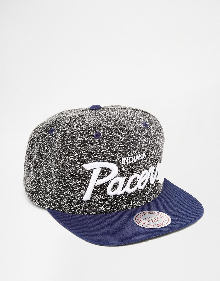 buy online 85e78 8f798 Mitchell   Ness Indiana Pacers Static Snapback Cap in Gray for Men ...