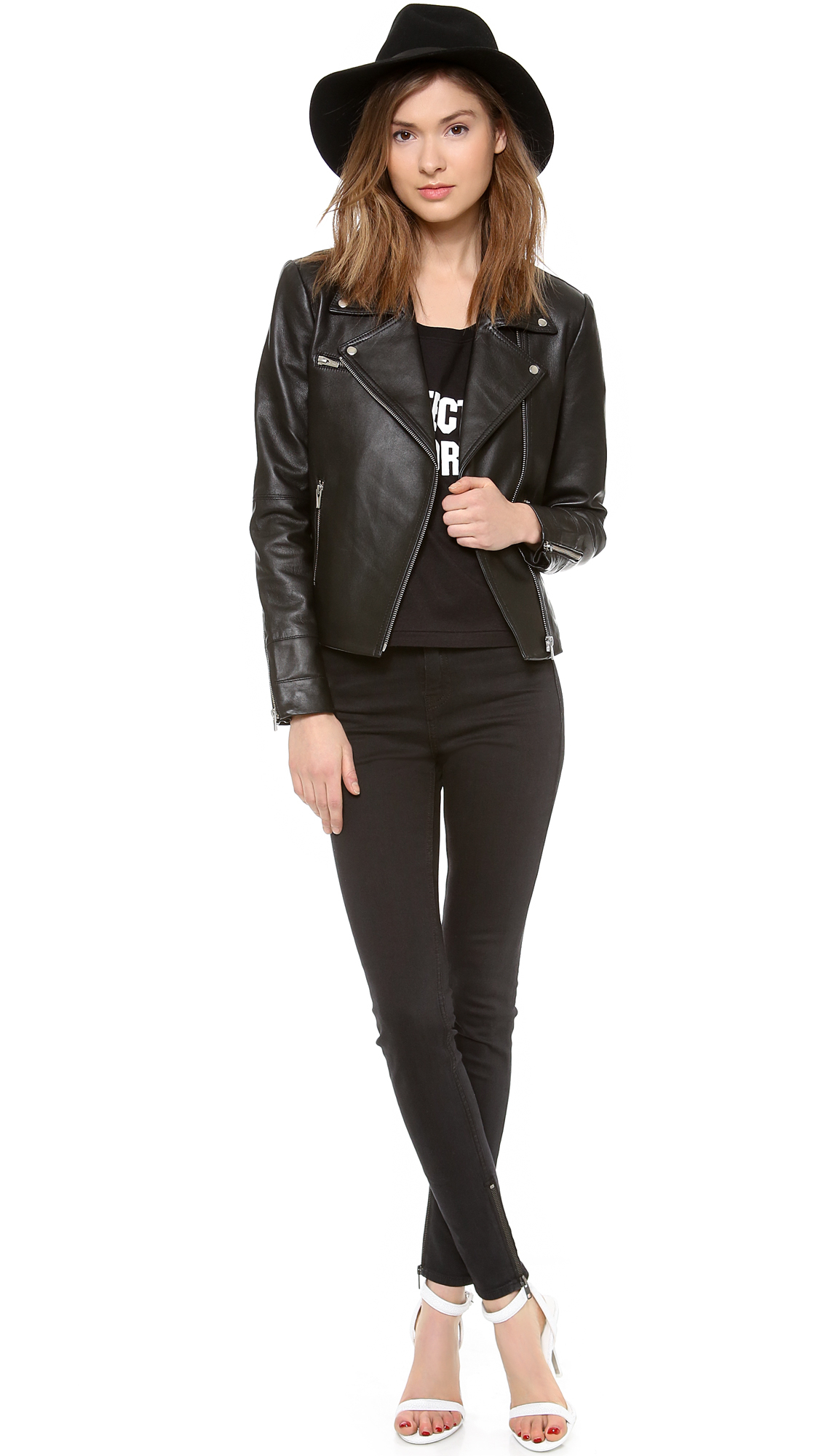 Veda Next Leather Jacket - Black in Black | Lyst