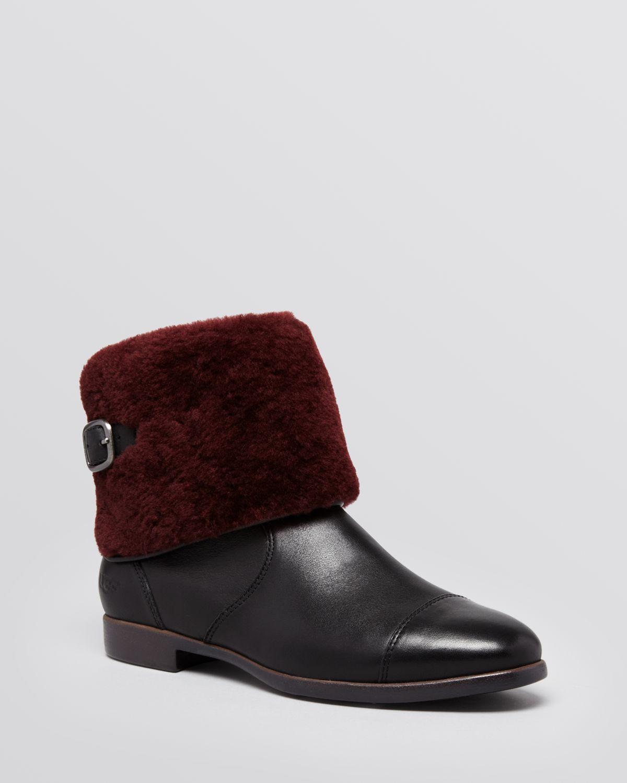 ugg inez leather ankle boots. Black Bedroom Furniture Sets. Home Design Ideas