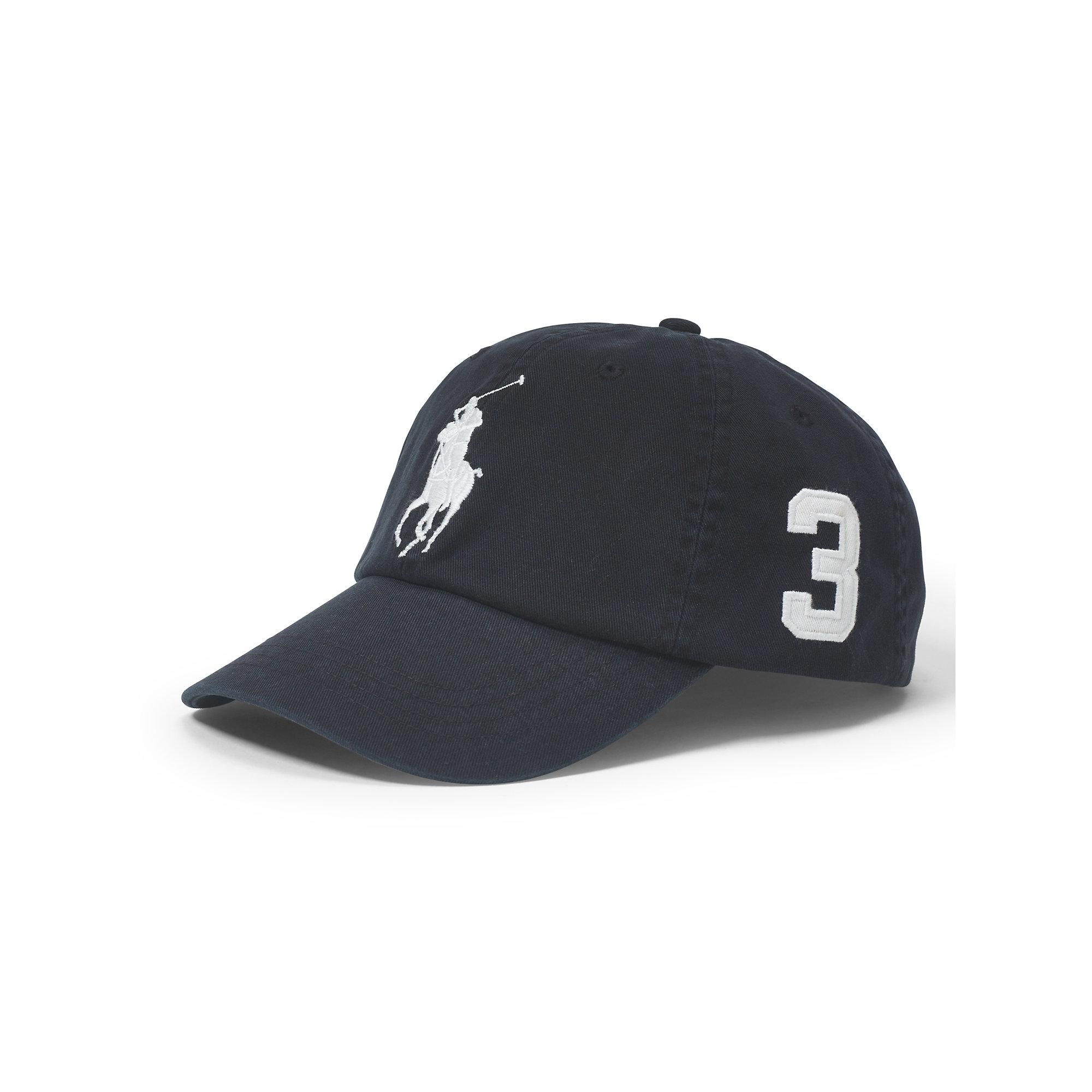 1346b8e2dc8 Lyst - Polo Ralph Lauren Big Pony Chino Baseball Cap in Black for Men