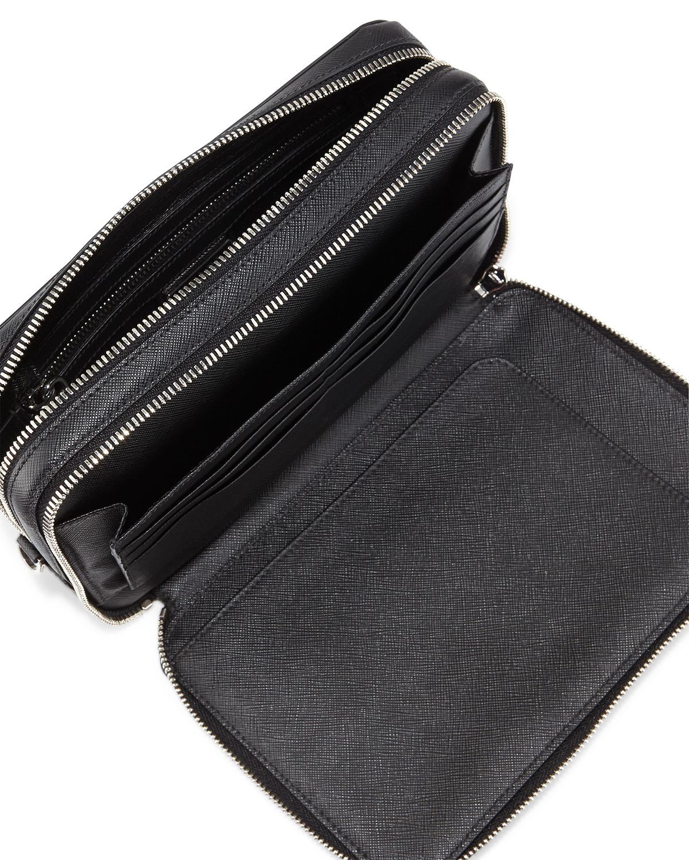 prada pouch bag - prada saffiano palm clutch, prada black nylon messenger bag