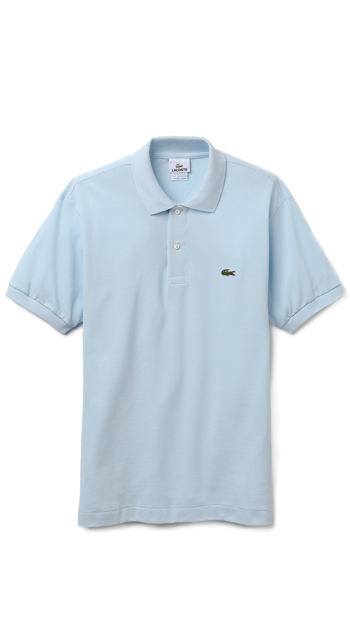 Lacoste short sleeve classic polo shirt in blue for men for Short sleeve lacoste shirt