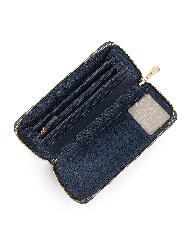 1155e1b307c2e4 MICHAEL Michael Kors Jet Set Travel Continental Wallet in Blue - Lyst