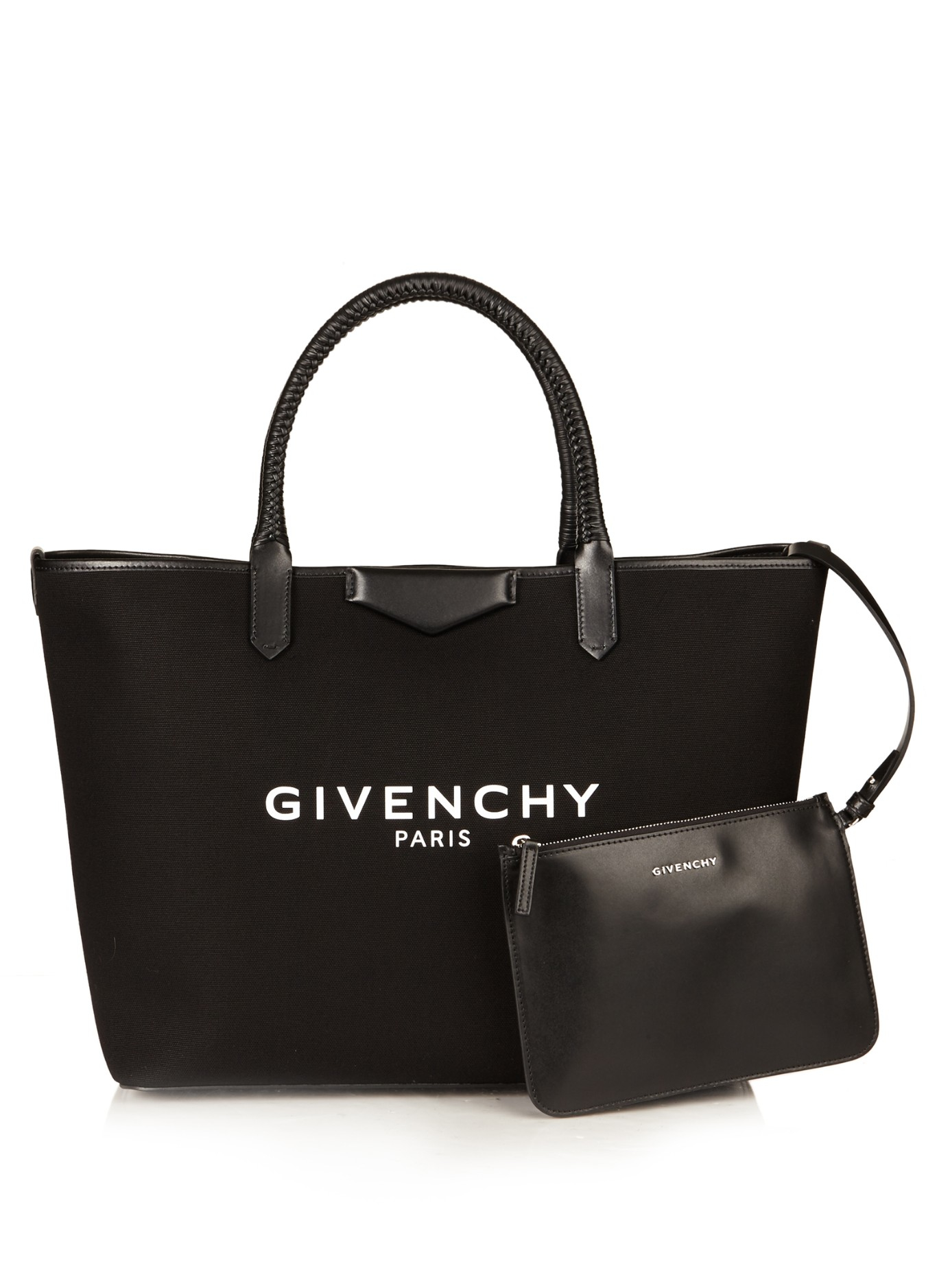 Givenchy Antigona Large Canvas Tote in Black | Lyst