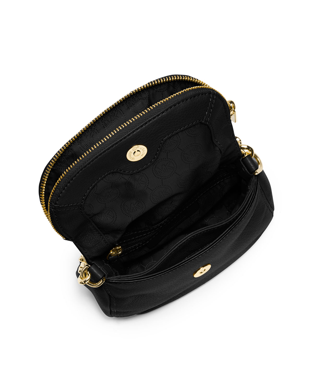 410b8e445126 ... netherlands lyst michael michael kors bedford flap crossbody bag in  black 86b9c 2c36b