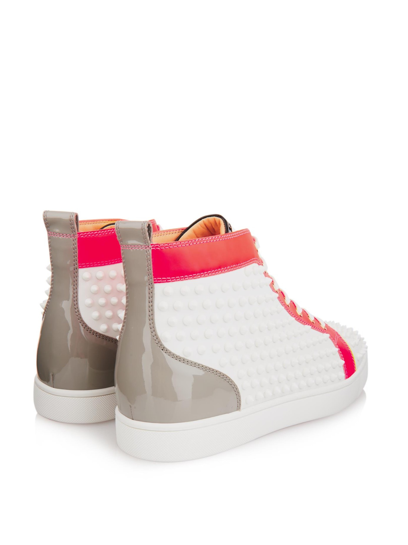 Louis spiked leather high-top trainers Christian Louboutin ze3Va4eM