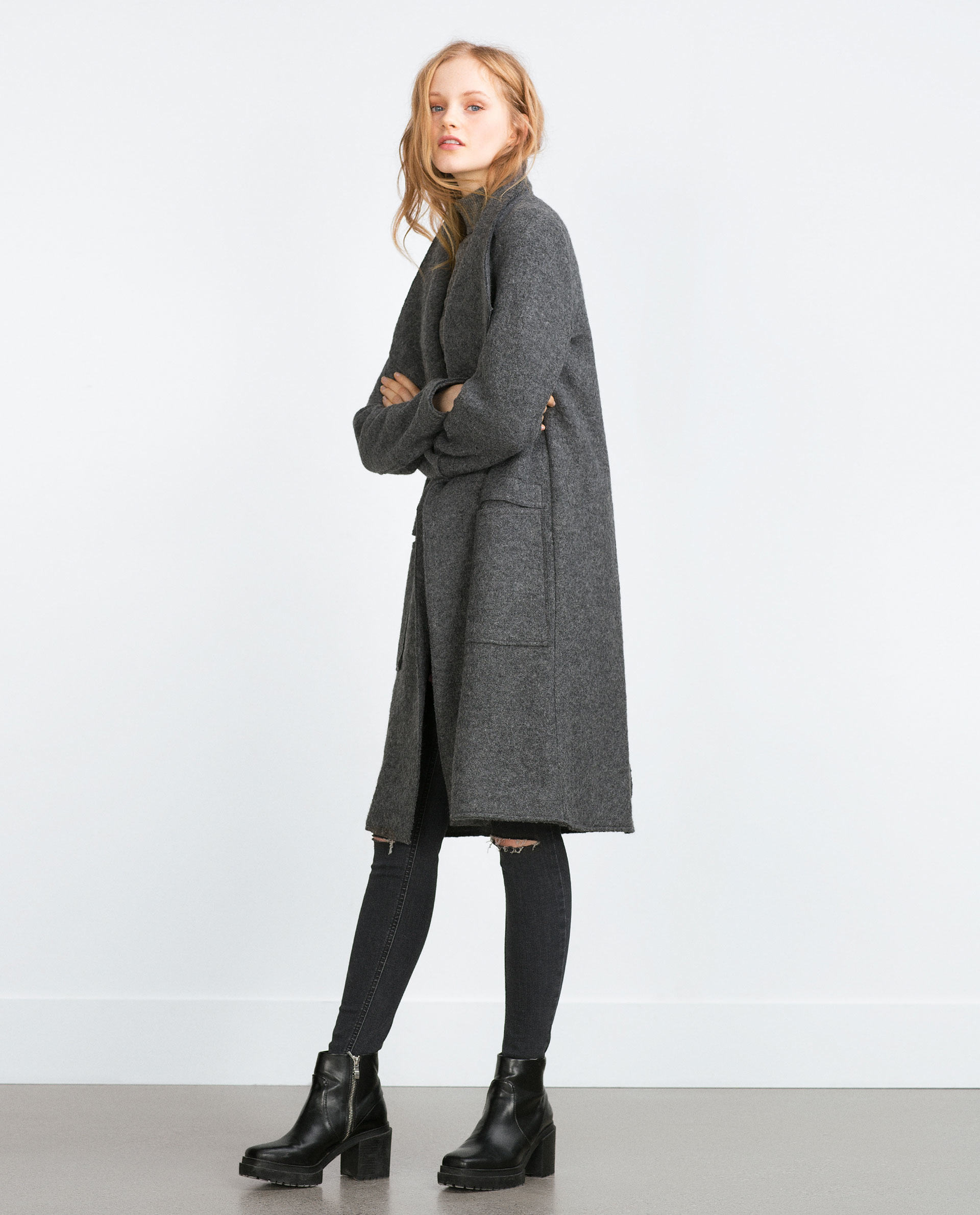 Shop gray wool coat at Neiman Marcus, where you will find free shipping on the latest in fashion from top designers.