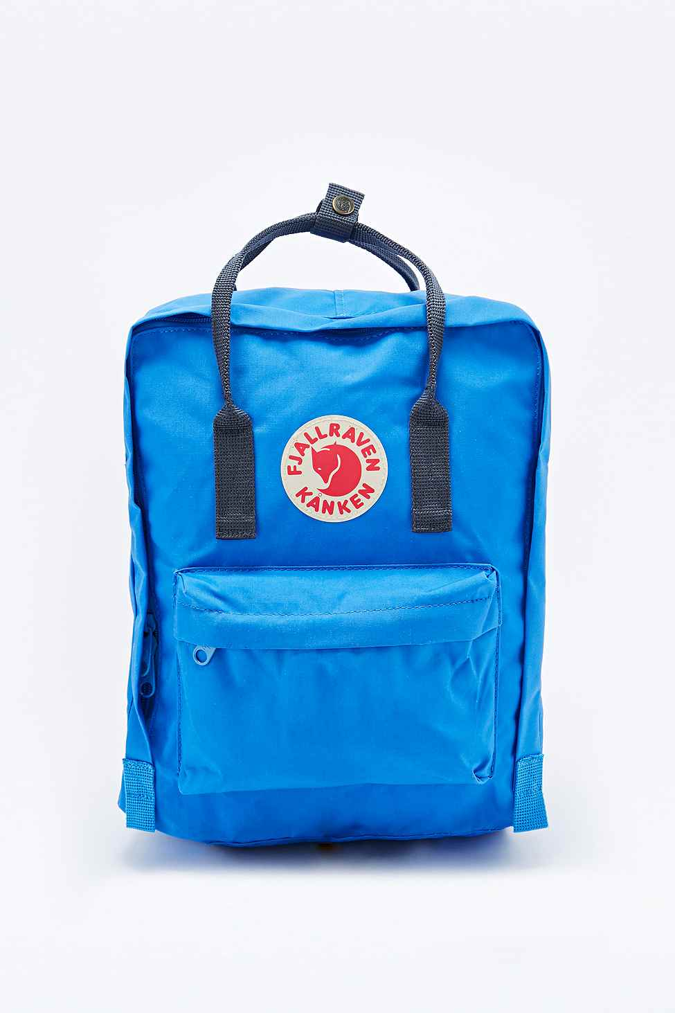 Snap Fjallraven Kanken Classic Backpack In Blue And Navy Royal Pinstripe Pattern