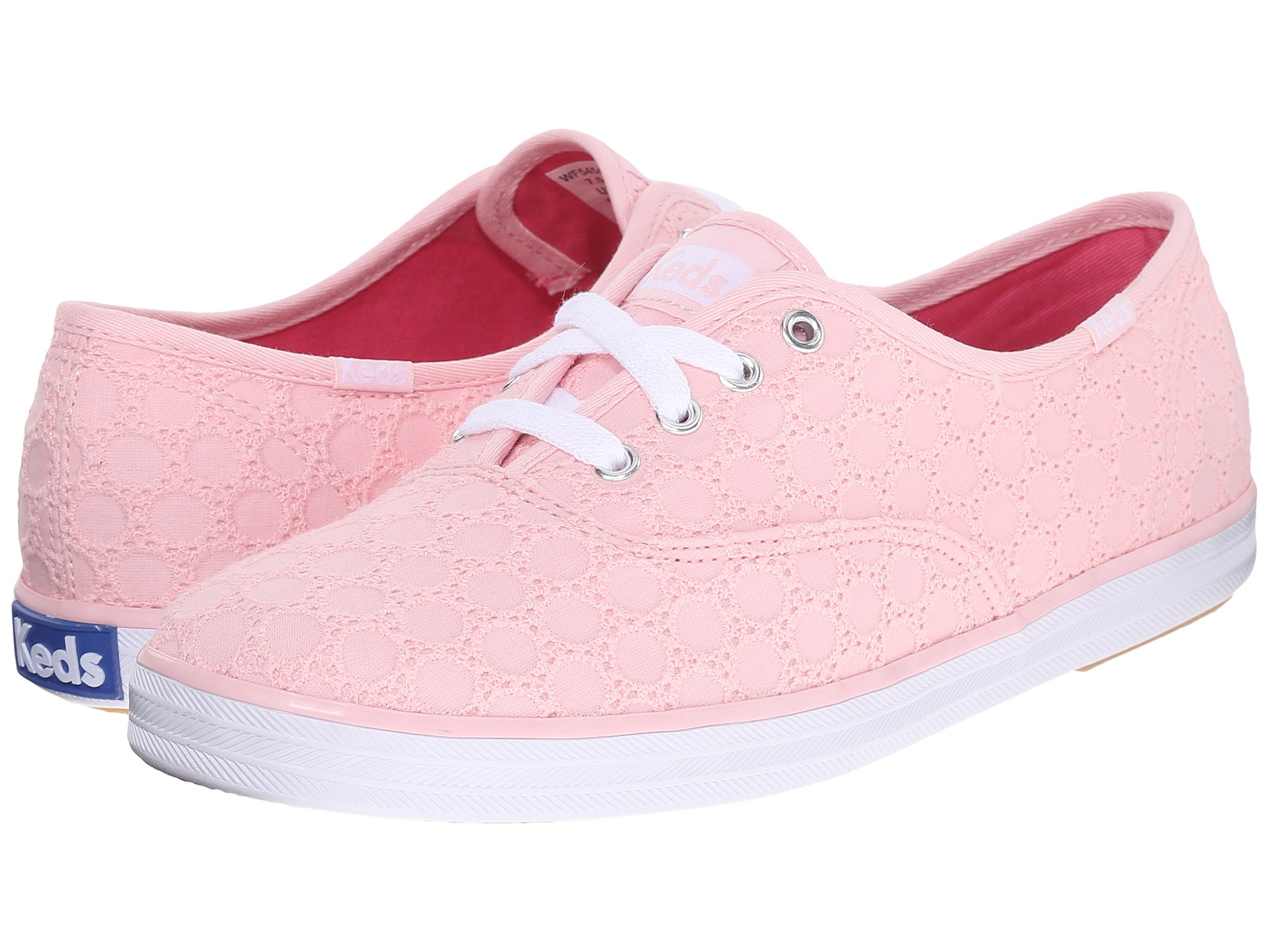keds champion pink eyelet shoes