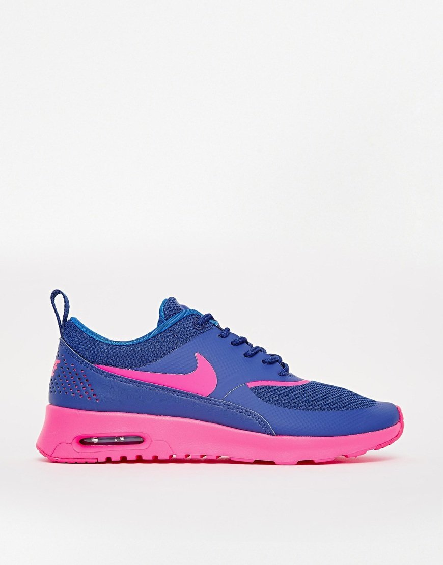 nike purple pink air max thea trainers in blue brightblue. Black Bedroom Furniture Sets. Home Design Ideas