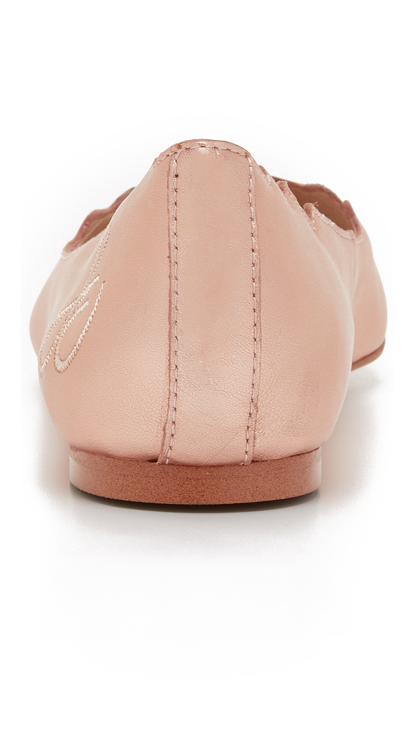 49aa9ae33295a Lyst - Sam Edelman Augusta Scalloped Ballet Flats in Pink