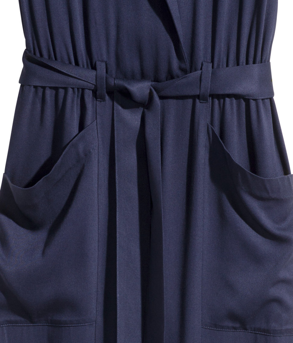 6313d452761 H M Sleeveless Jumpsuit in Blue - Lyst