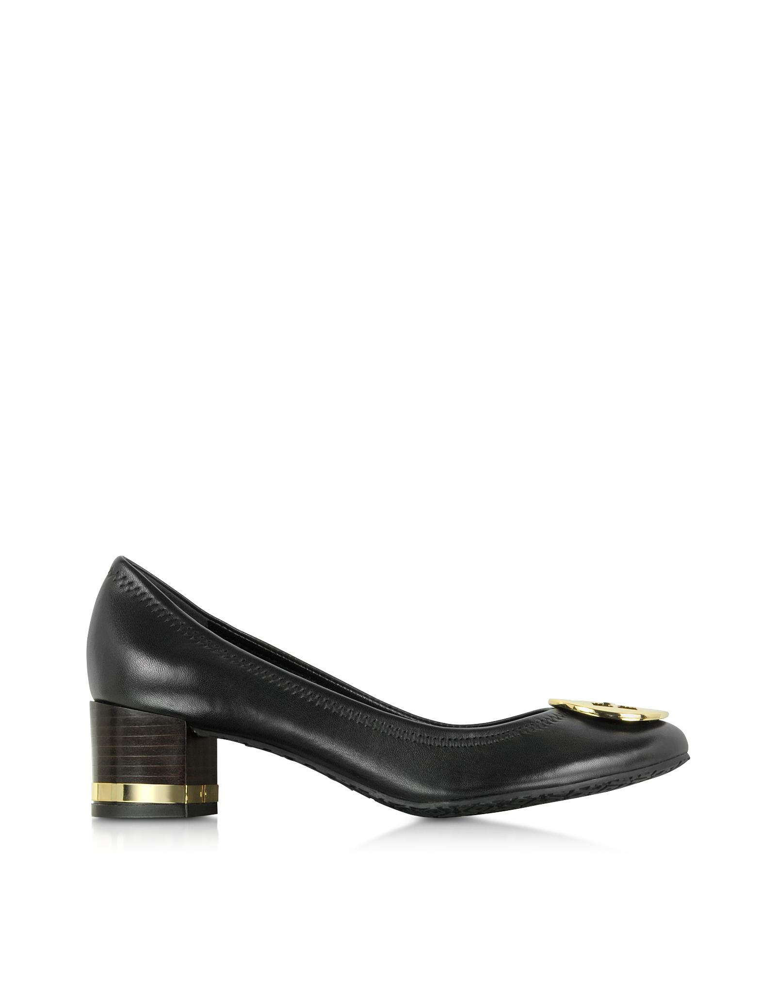 c8b452136a1020 Lyst - Tory Burch Black Basic Amy Mid Heel Pump in Black