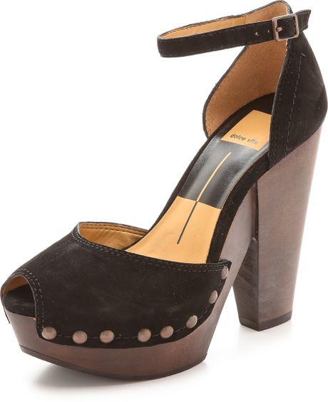 dolce vita huxley platform sandals black in black lyst