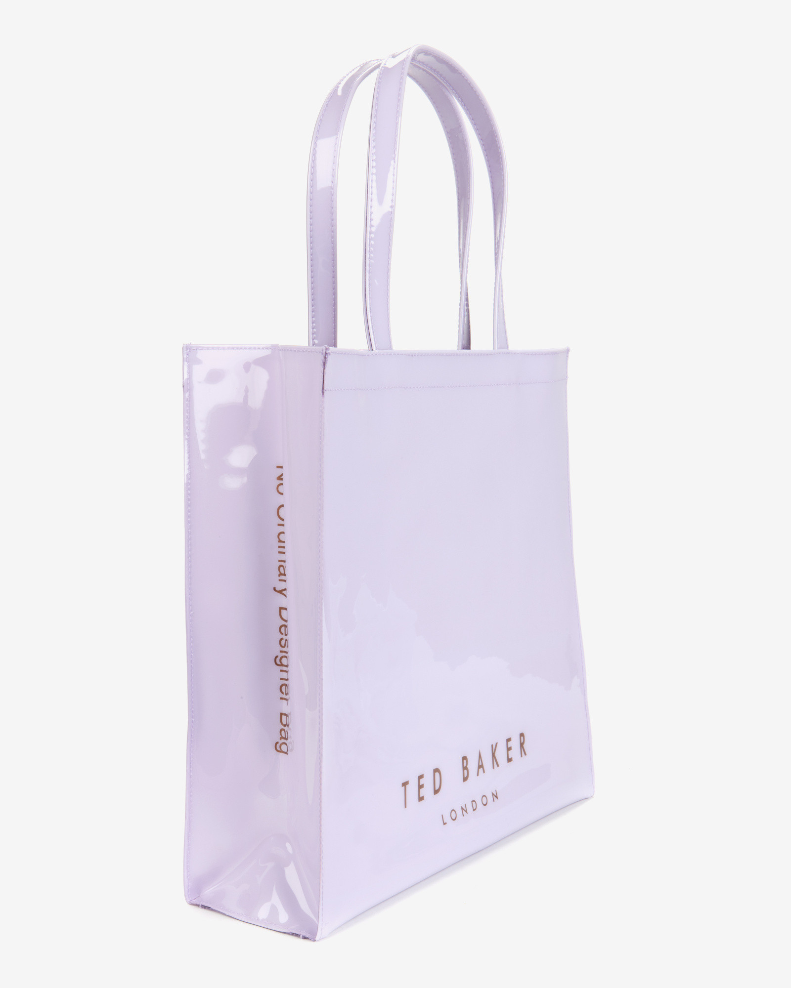 76d42b8d1a78 Ted Baker Patent Bow Shopper in Purple - Lyst