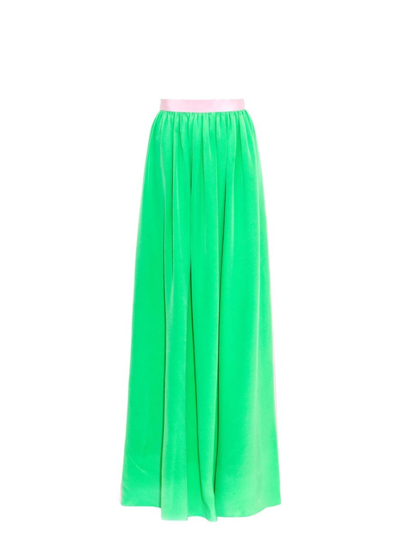 roksanda bi colour silk skirt in blue blue multi lyst