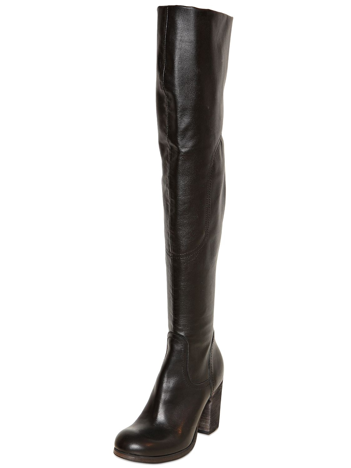 Strategia 80MM STRETCH LEATHER OVER-THE-KNEE BOOTS