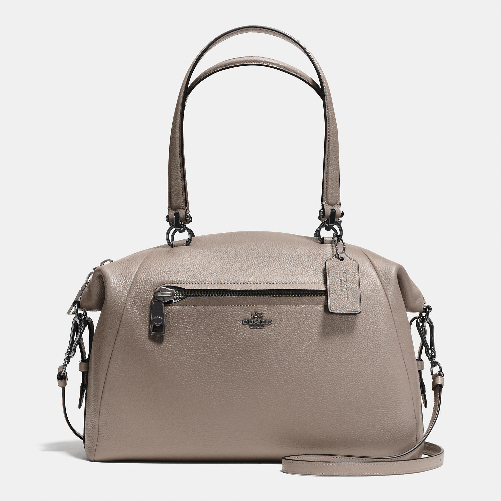 Lyst Coach Large Prairie Satchel In Pebble Leather In Gray