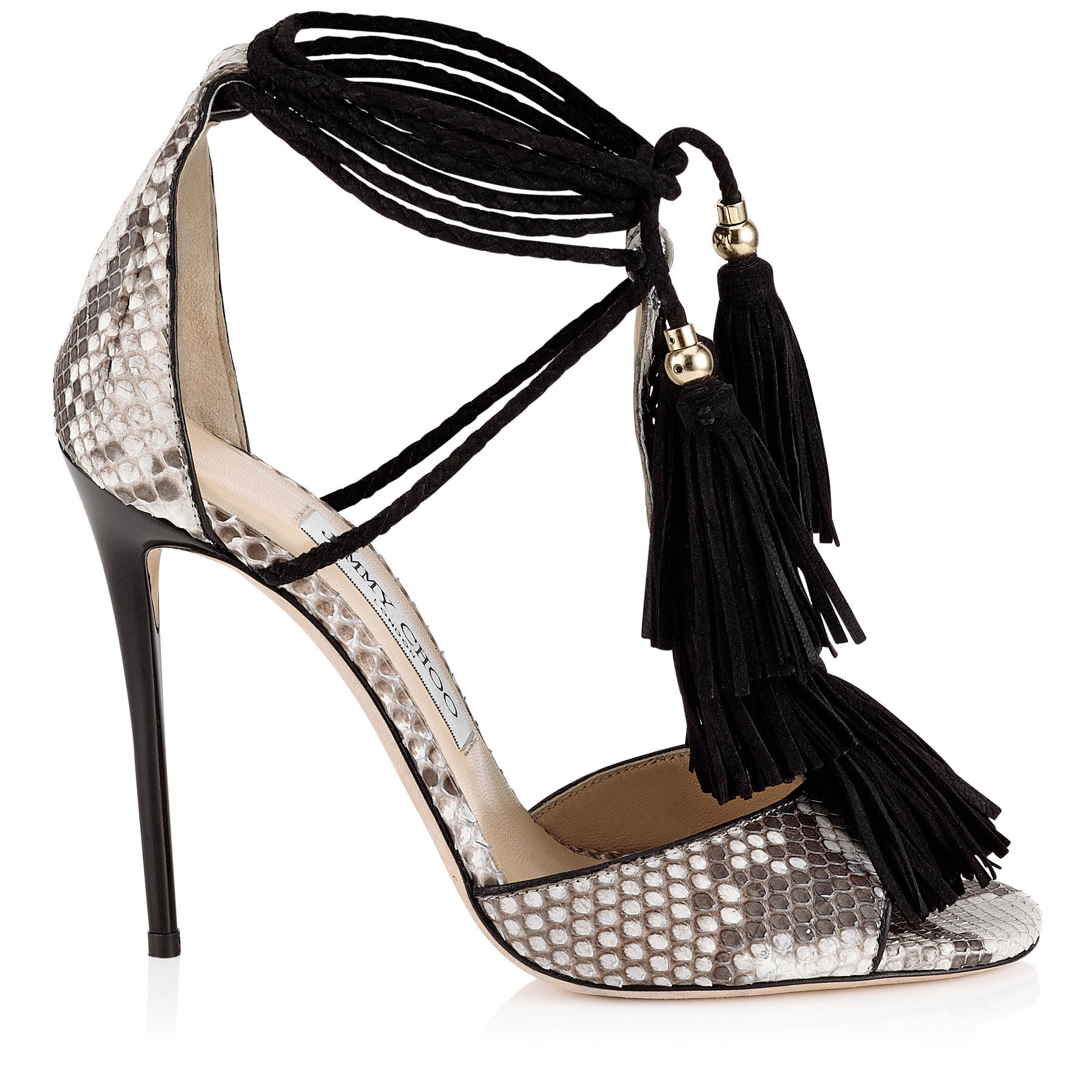f62984f04afd ... ebay lyst jimmy choo mindy tasseled python sandals in natural 2e555  542e7
