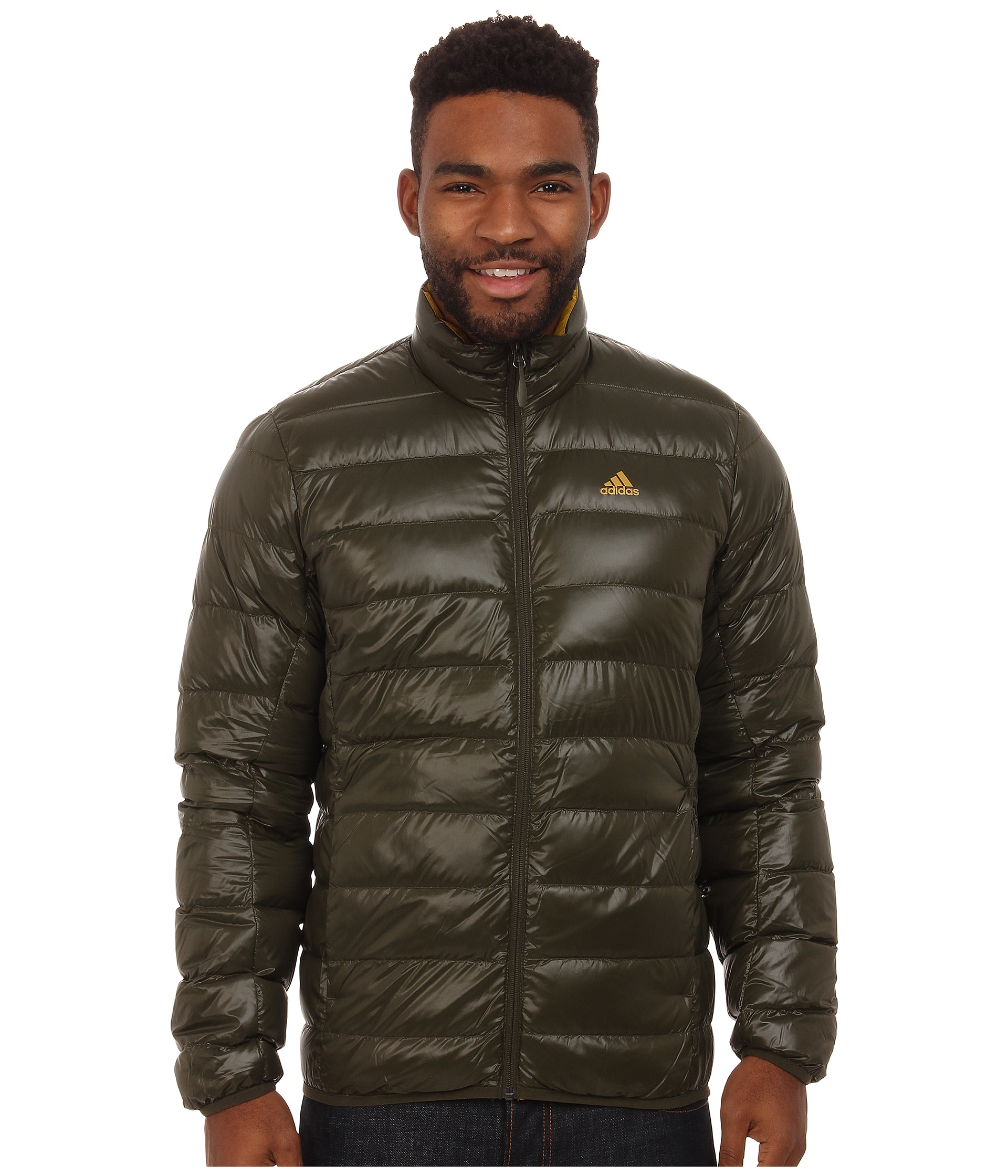 Adidas Light Down Jacket in Natural for Men | Lyst
