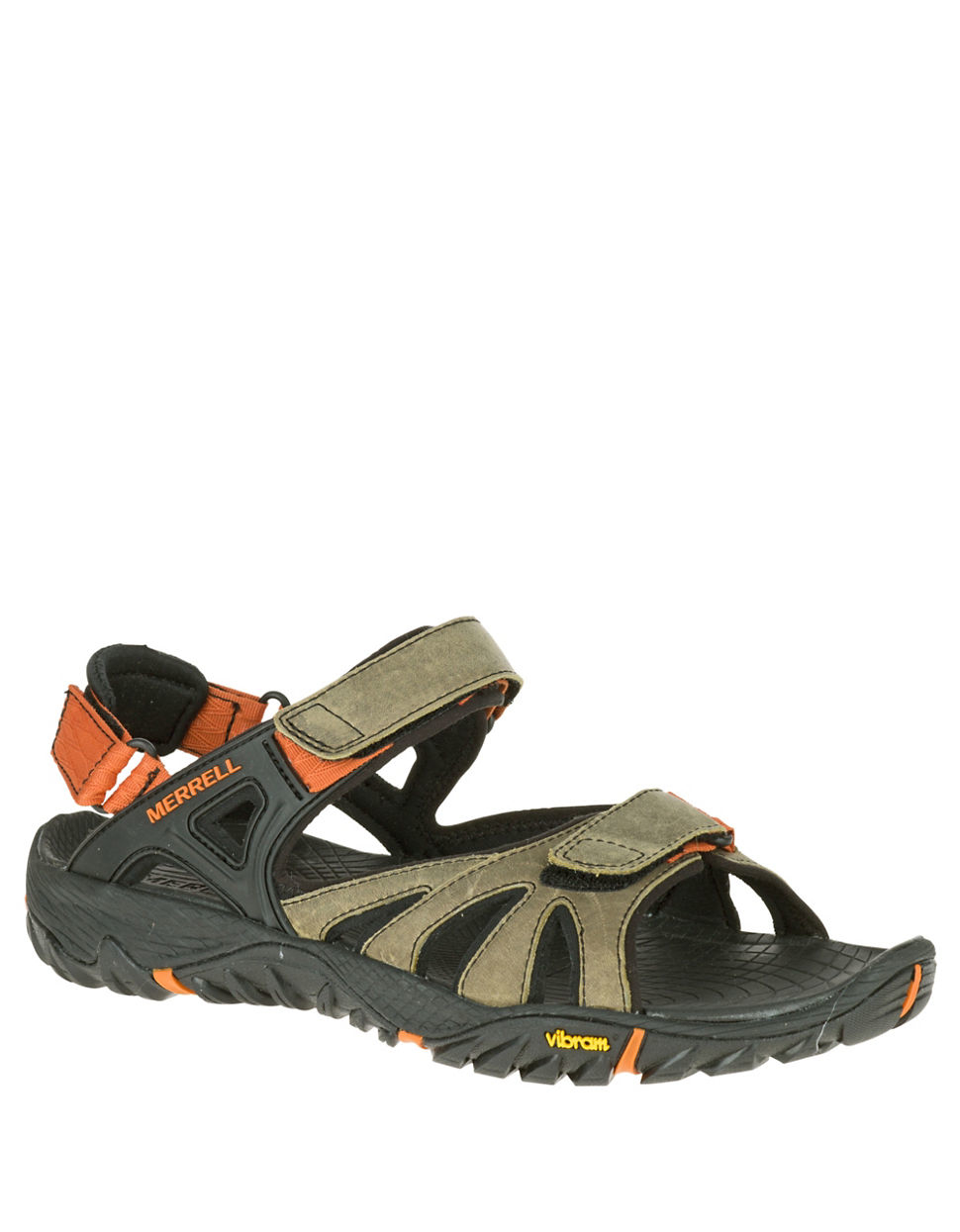 93c5ba5f7525 Lyst - Merrell All Out Blaze Sieve Convertible Leather Sandals in ...