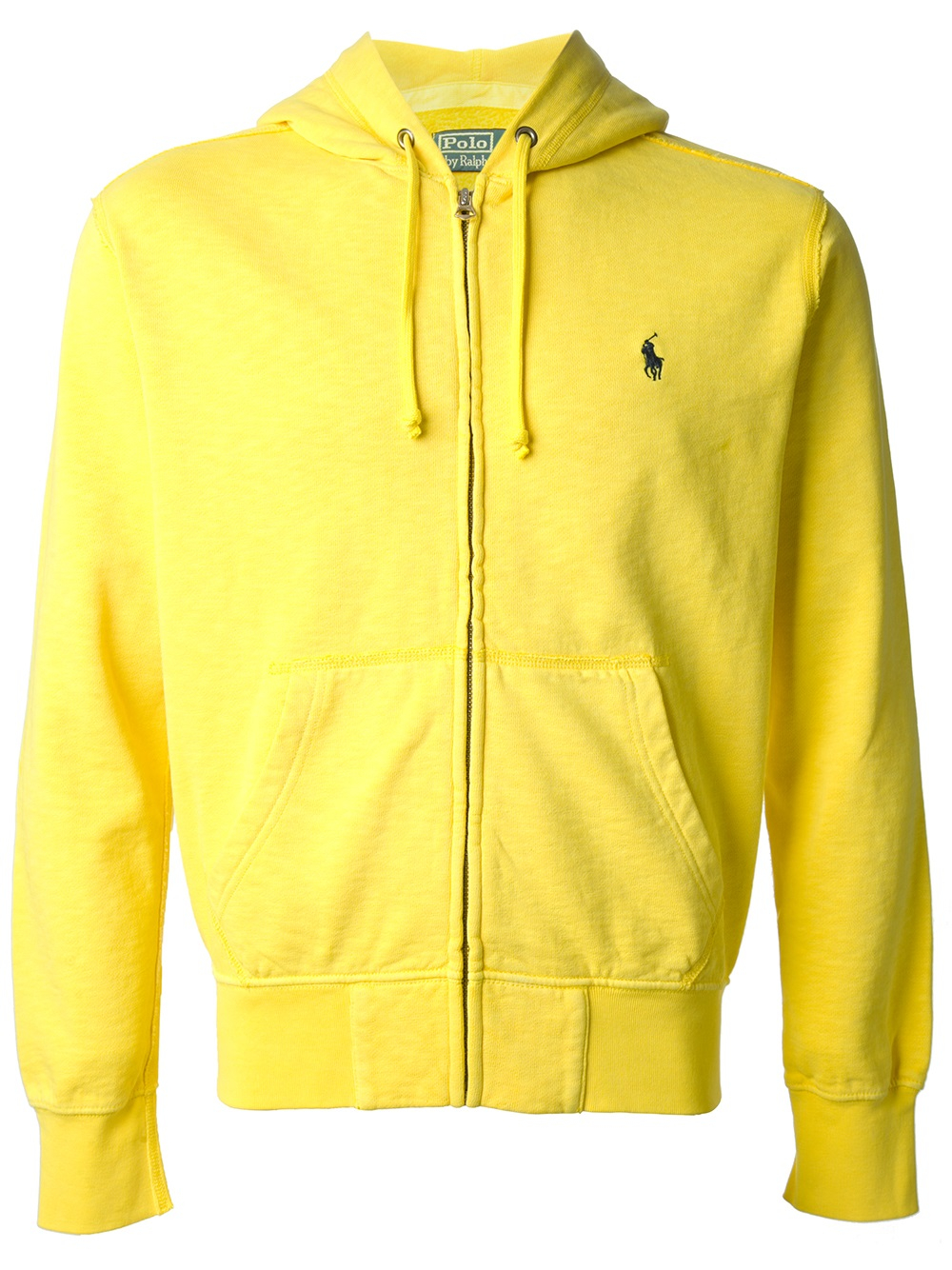 polo ralph lauren zip front hoodie in yellow for men lyst. Black Bedroom Furniture Sets. Home Design Ideas