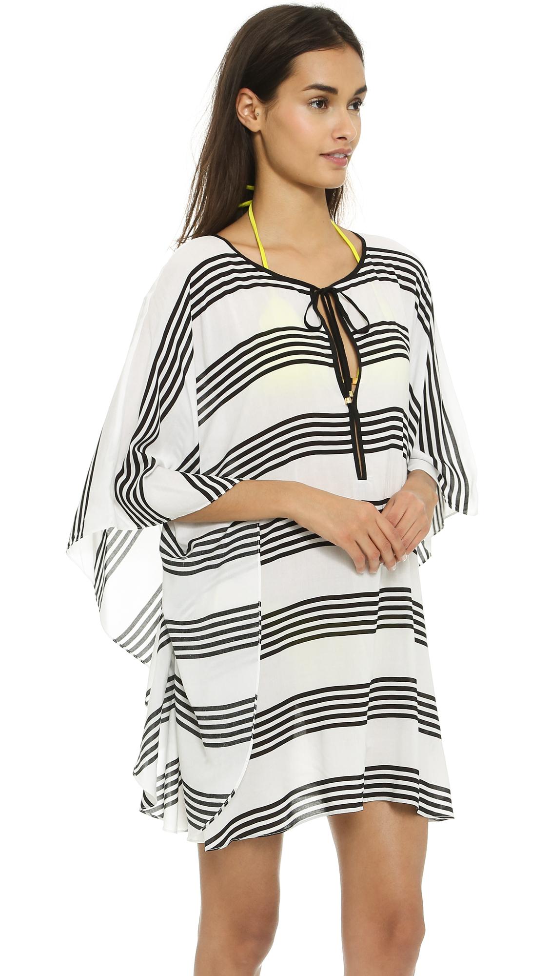 03862ae2303a5 Lyst - ViX Stripes Caftan - Stripes in White