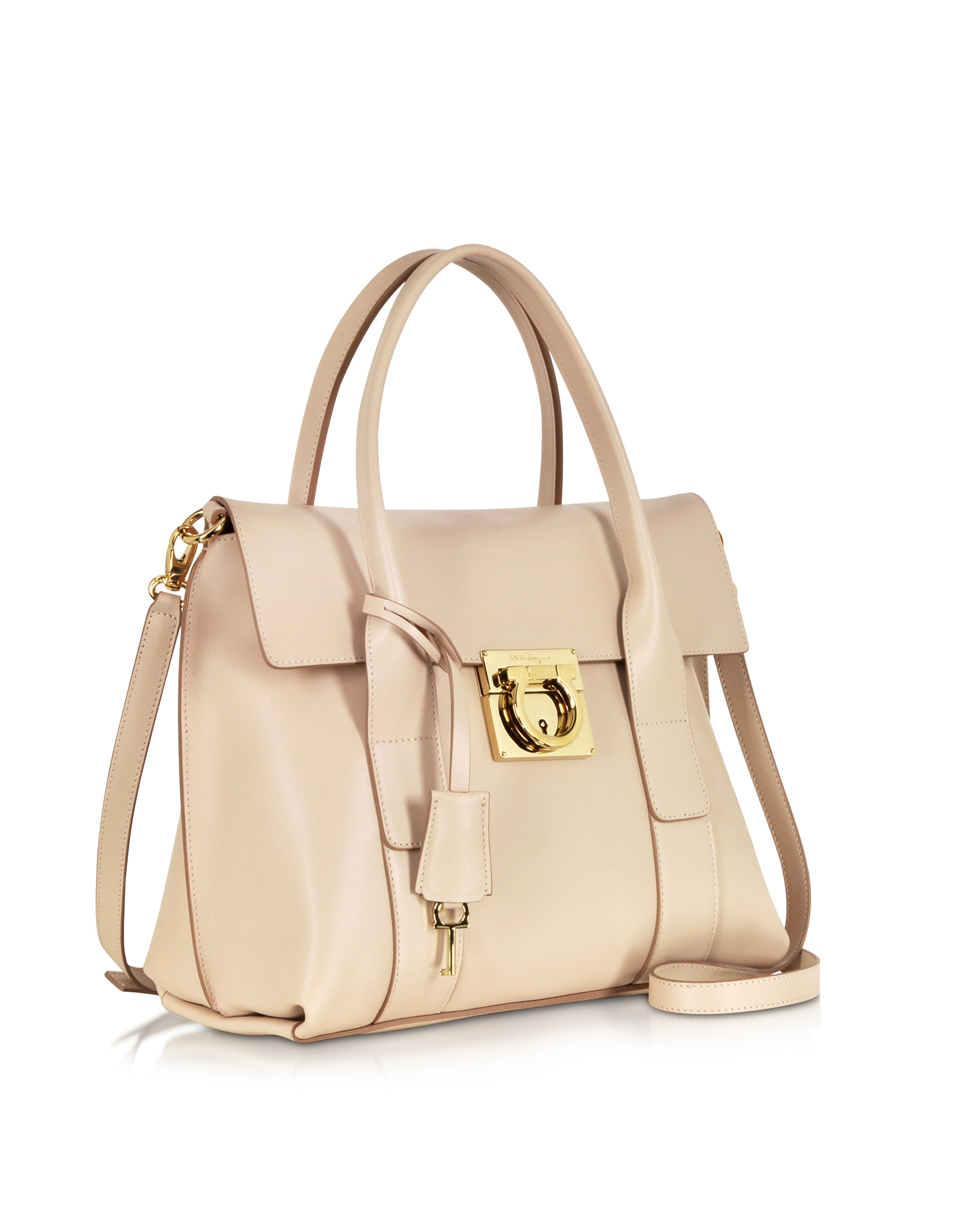 6d96e8c3274b Ferragamo Small Sookie Gancio Lock Tote Bag in Natural - Lyst