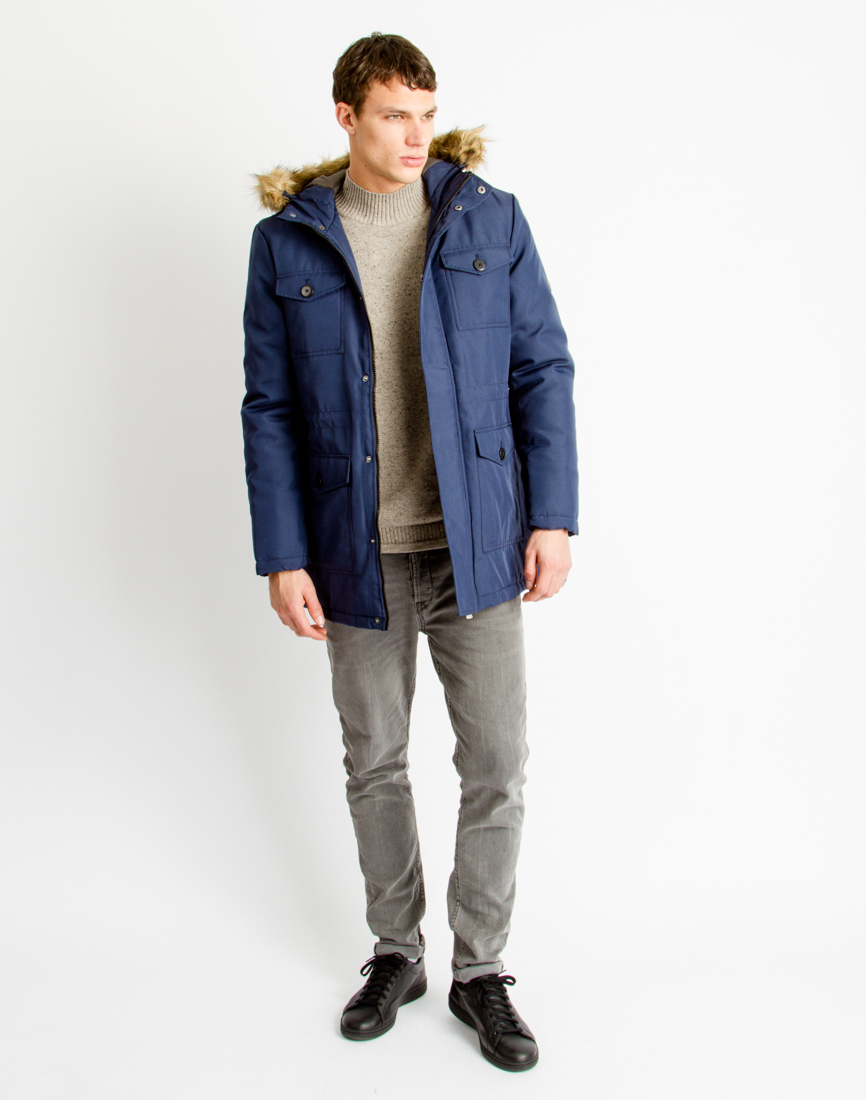Only & sons Mens Parka Coat Blue in Blue for Men | Lyst