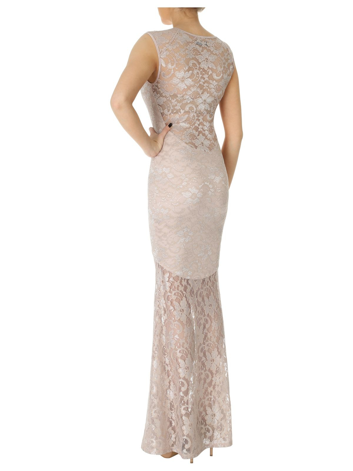 Jane Norman Lace Maxi Dress In Natural Lyst