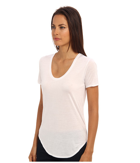 Scoop Neck Tee in Black Helmut Lang Best Seller Factory Price Looking For Cheap Price 2ZHQY1PCrY
