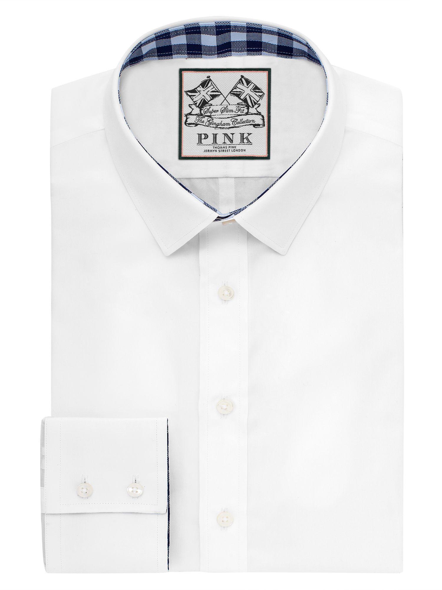 Lyst - Thomas pink Plato Plain Super Slim Fit Shirt in White for Men