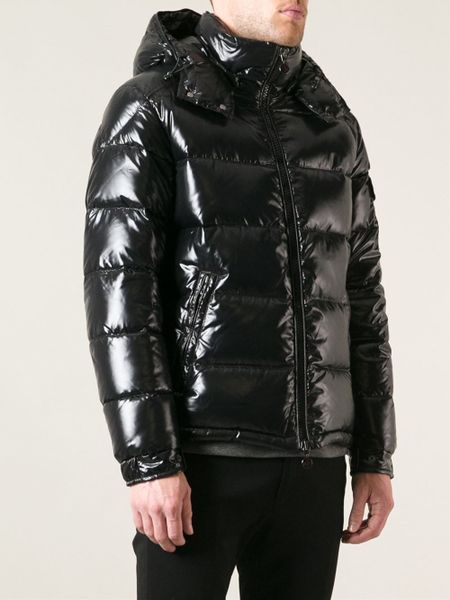 Moncler Maya Lacquered Jacket In Black For Men Lyst