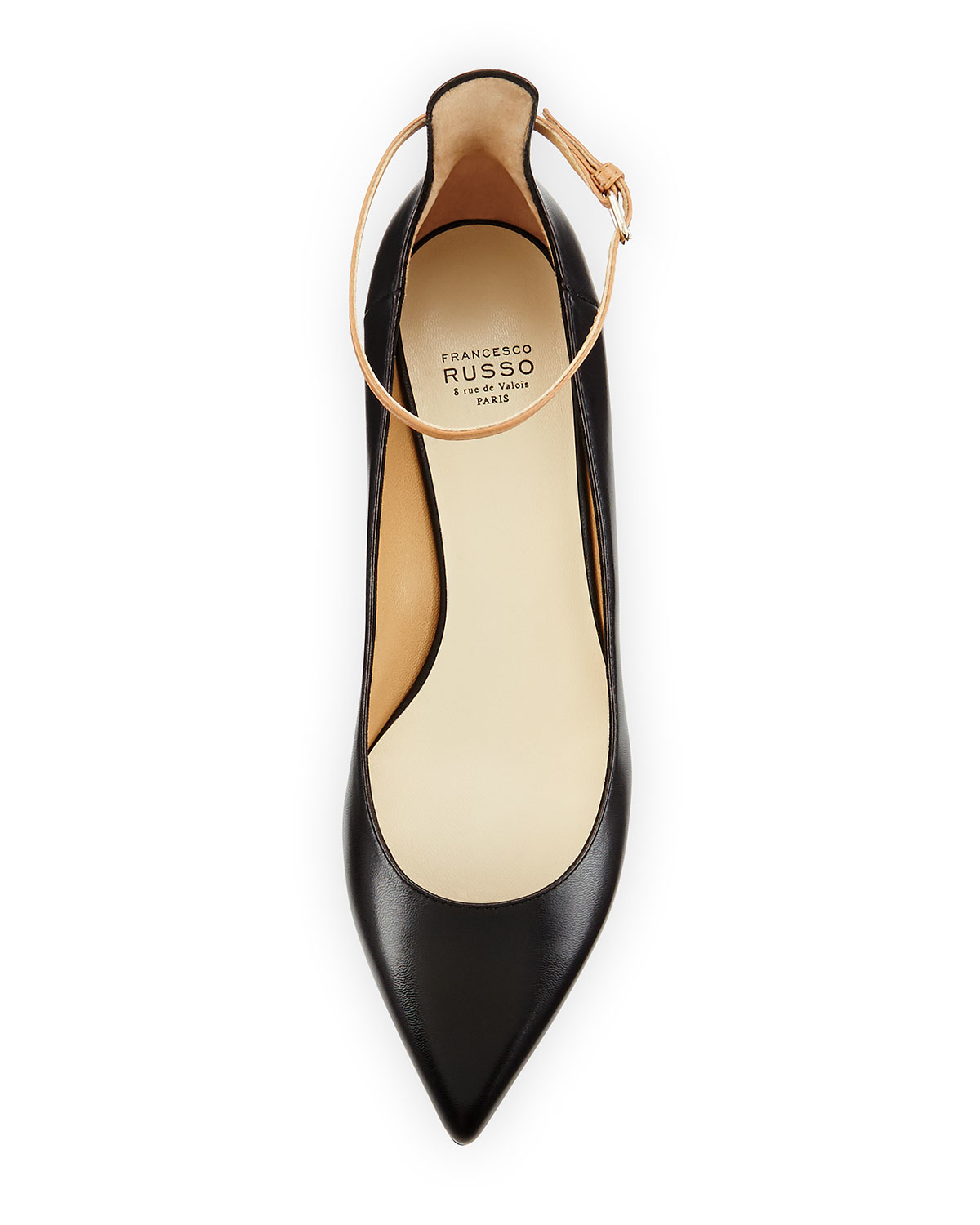 b6f5929737d7 Lyst - Francesco Russo Ankle-Strap Leather Pumps in Black