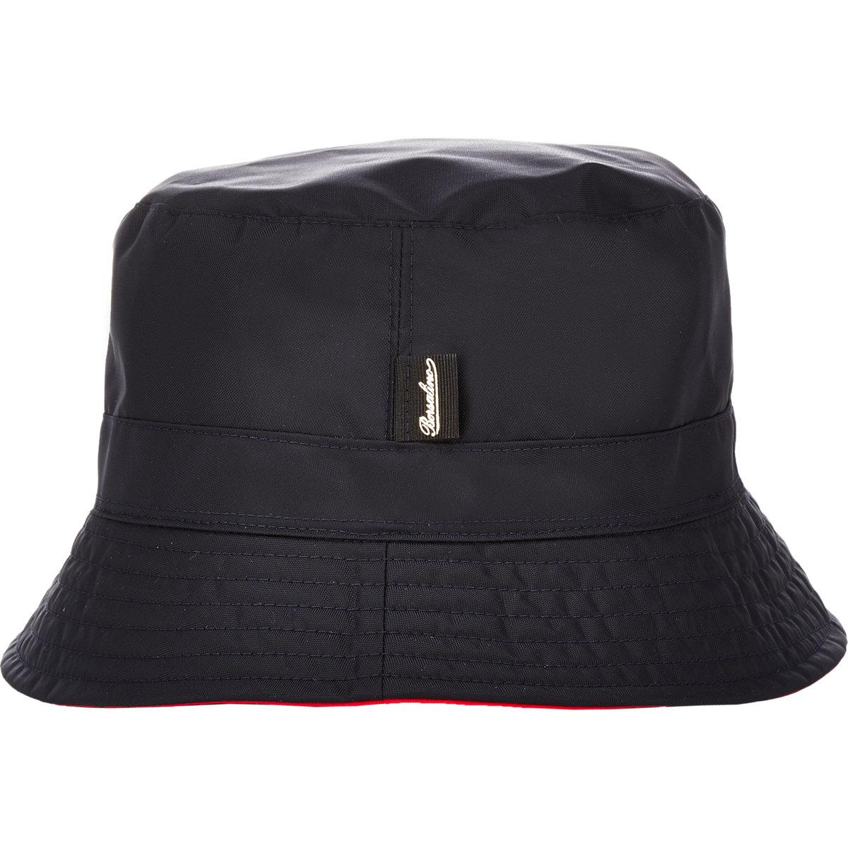 Lyst - Borsalino Reversible Bucket Hat in Blue for Men 2cbf24a4b98a
