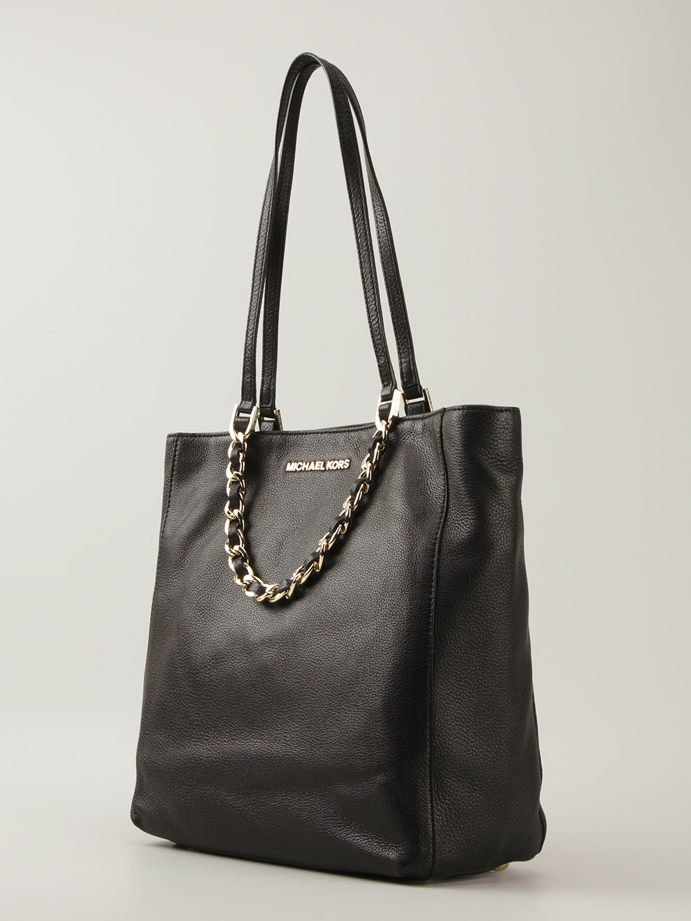 028497a8c5c0 Lyst - Michael Michael Kors Chain Strap Tote in Black ...