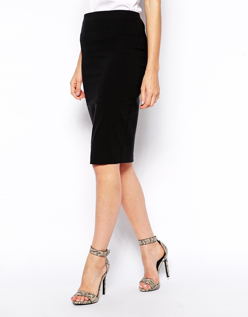 Lyst - Asos High Waisted Pencil Skirt In Black