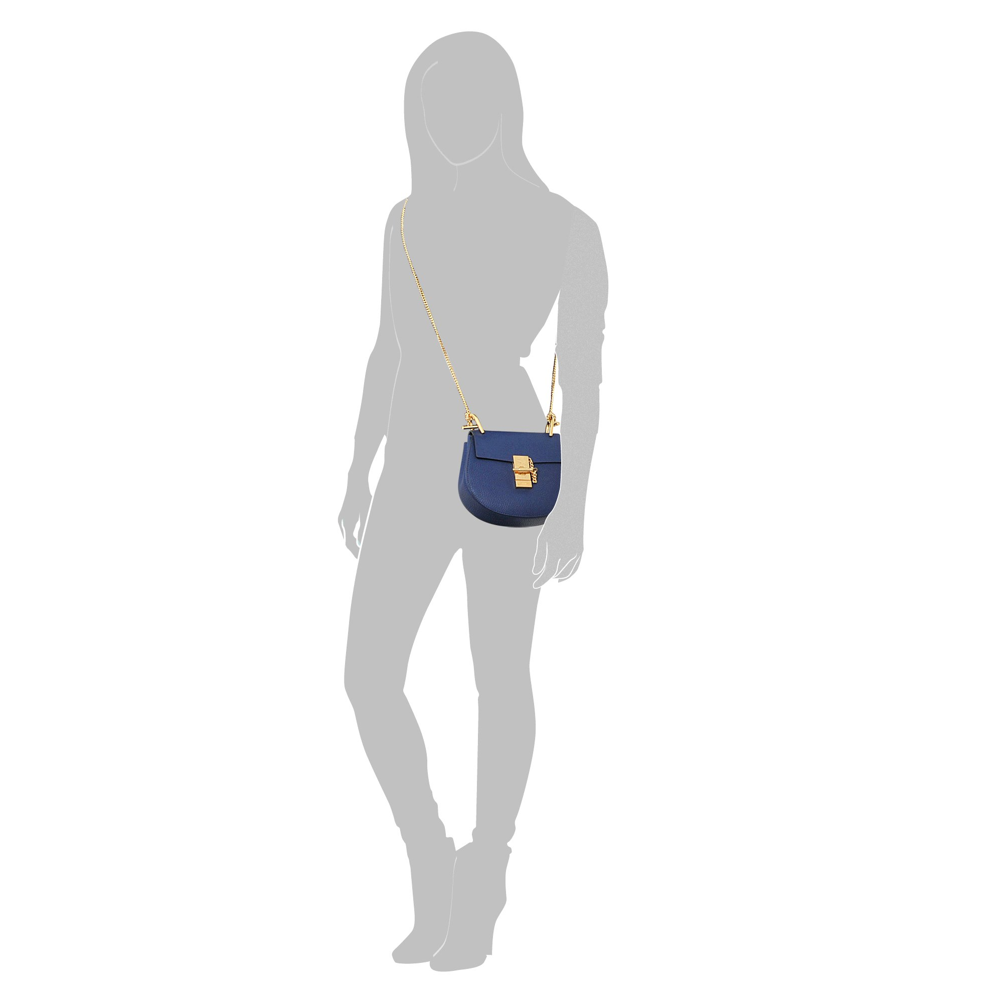 Chlo�� Drew Mini Saddle Bag in Blue | Lyst