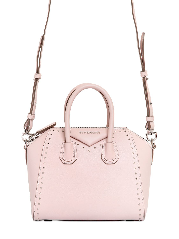 Lyst - Givenchy Antigona Mini Leather Cross-body Bag in Pink 482ed8472e518