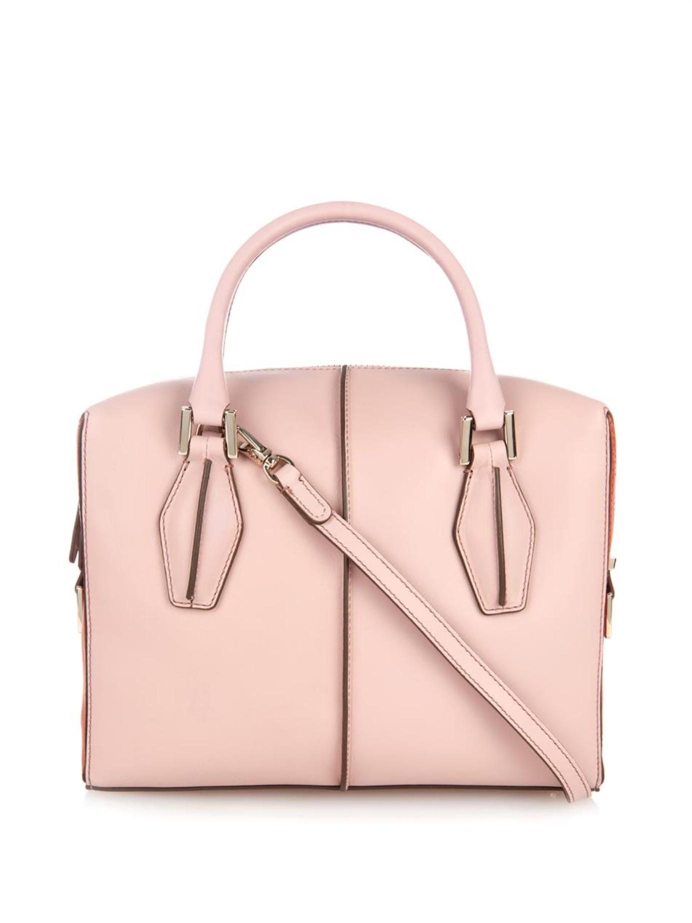 14e6af47f96 Tod's D-Cube Small Shoulder Bag in Pink - Lyst