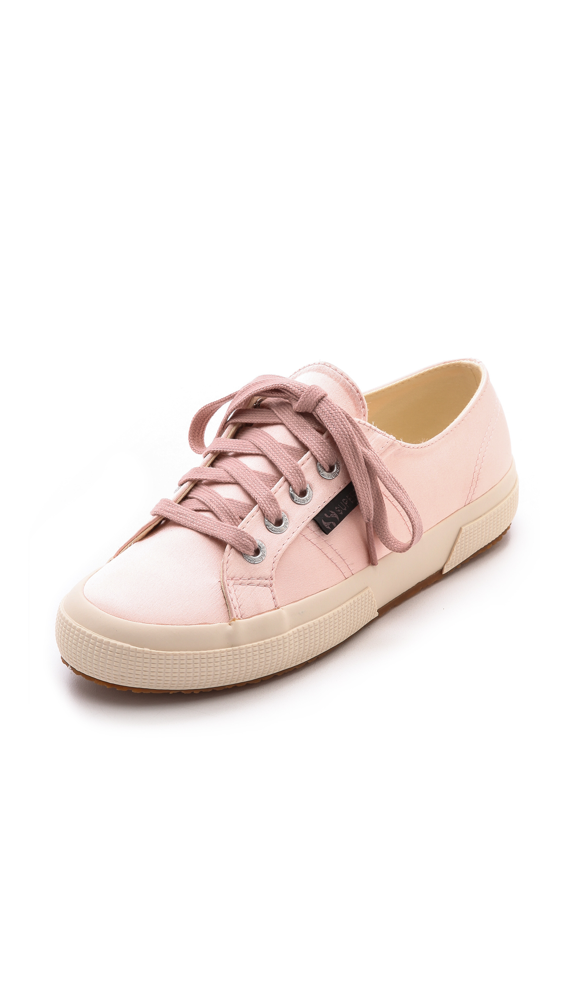 95f4b7171a8c98 Superga The Man Repeller X Satin Classic Olive Green in Pink - Lyst