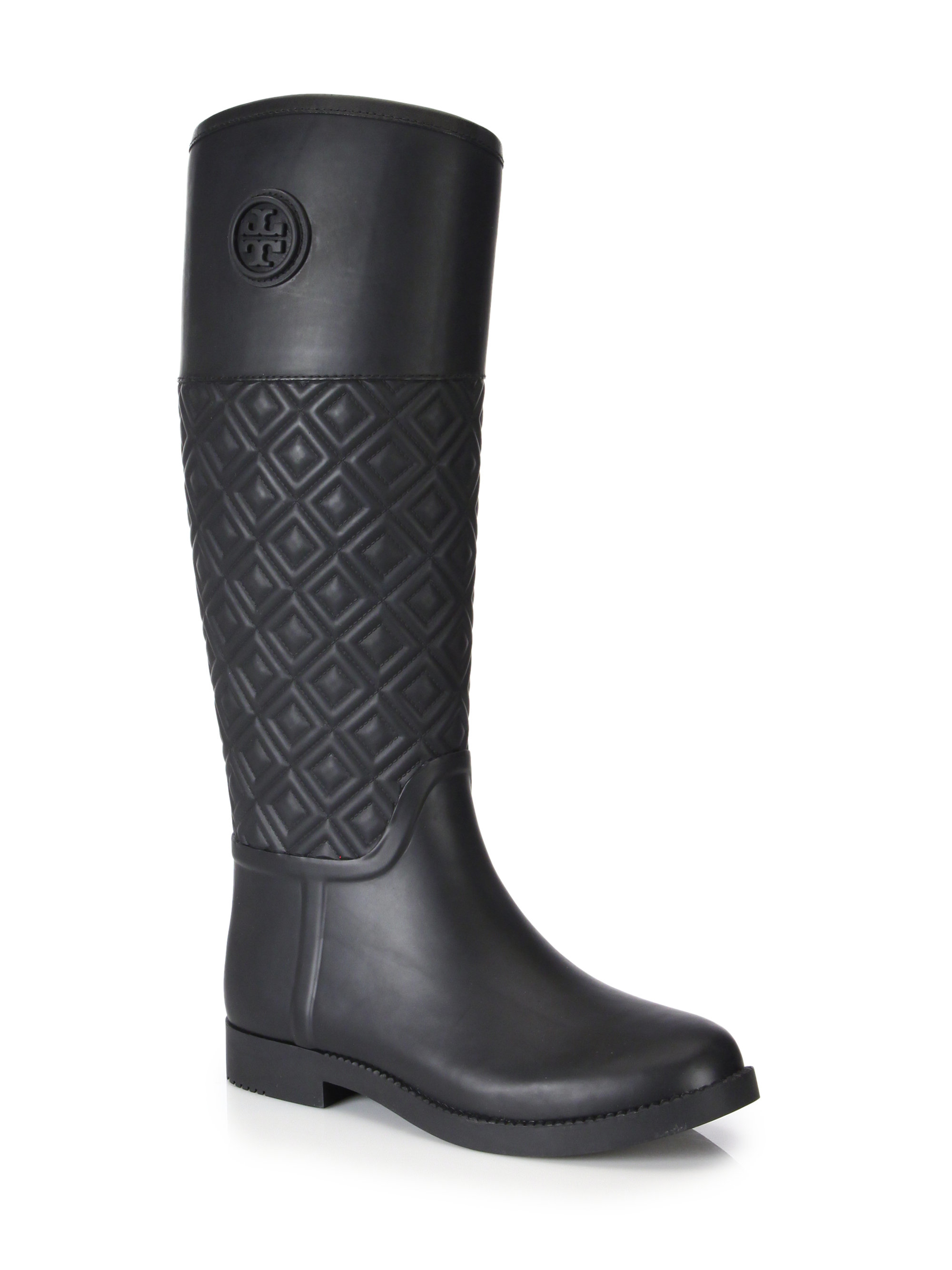 2521d302fbbb57 Gallery. Previously sold at  Saks Fifth Avenue · Women s Rain Boots Women s  Tory Burch Marion ...