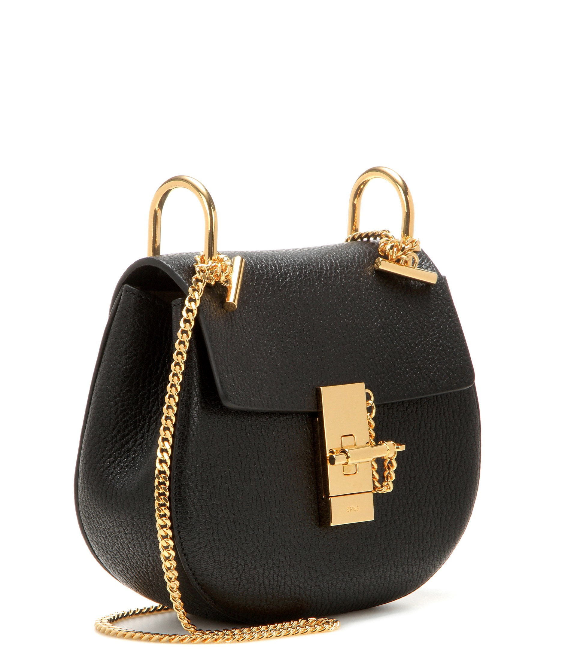 chloe replica bags - Chlo�� Drew Mini Leather Shoulder Bag in Black | Lyst