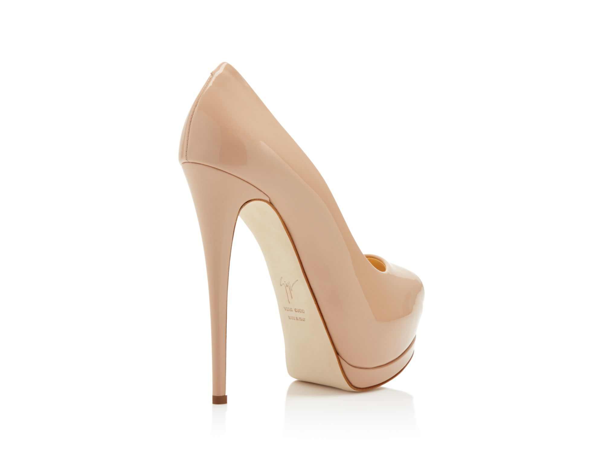 Giuseppe Zanotti Platform Pumps SHARON peeptoe leather perforated