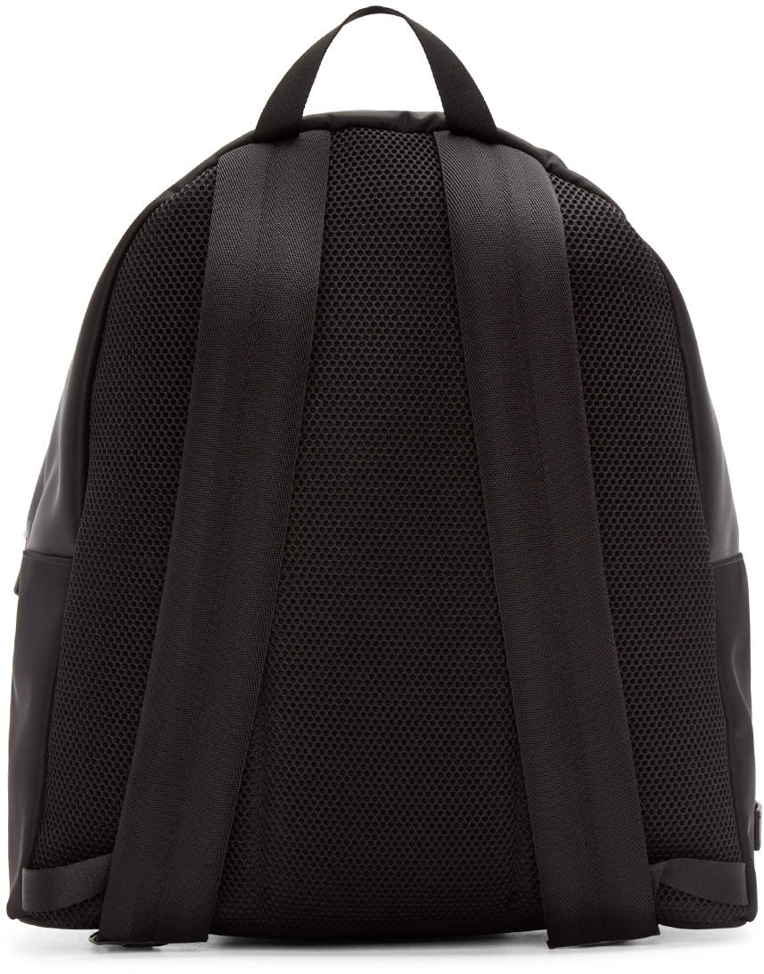 Lyst - Fendi Black Nylon Monster Backpack in Black for Men dcedc2873ae66